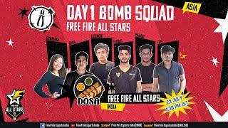 [HINDI] Free Fire All Stars Asia | Day 1 - Bomb Squad