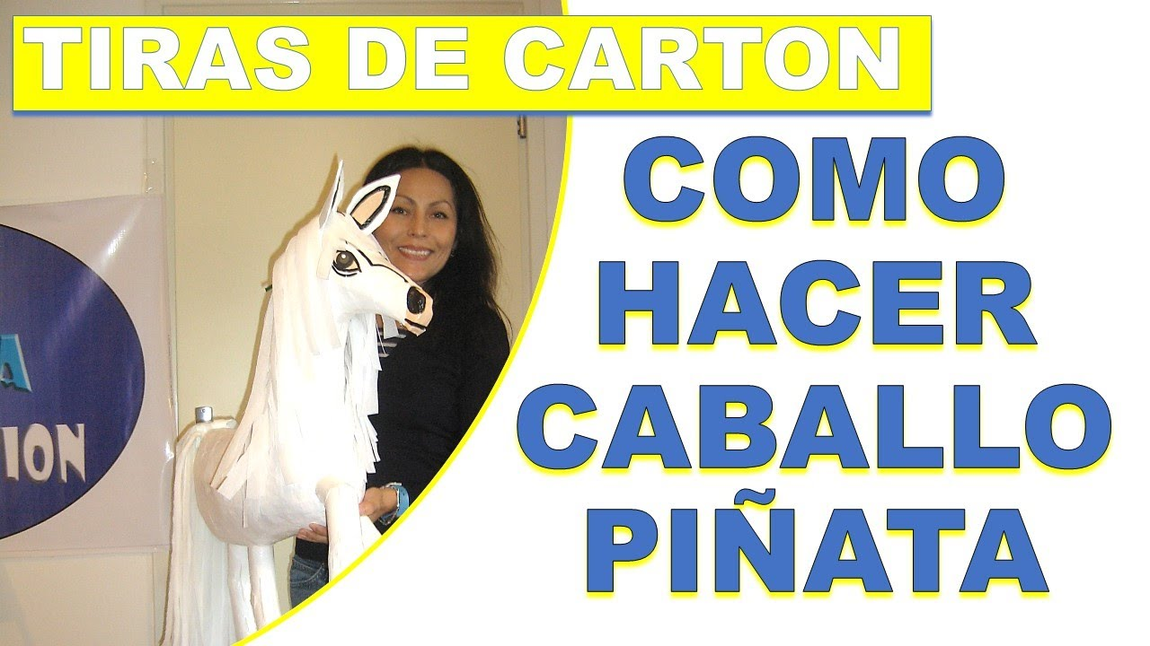 Como hacer una pinata de un pony pony pinata youtube for Como decorar un buro