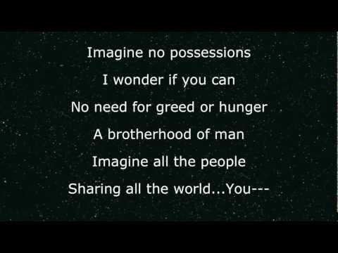 Imagine Glee- Instrumental with Lyrics and Back-up Vocals