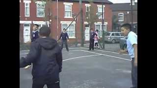 St Richards Boys Playing Football