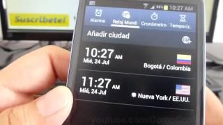 como saber la hora de estados unidos samsung galaxy s3 gt i9300 español Video Full HD