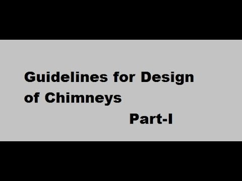 Guidelines for design of Chimney Part-I (Working Stress method)