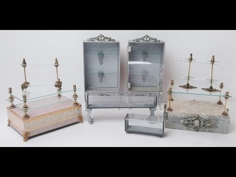 Miniature Glass Display Cases