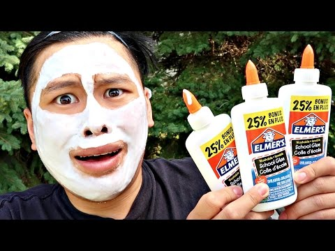 100 LAYERS OF GLUE ON MY FACE!!!