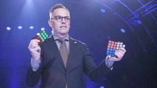 Rune Carlsen med fortryllende Rubiks kube-opptreden (Norske talenter 2018)