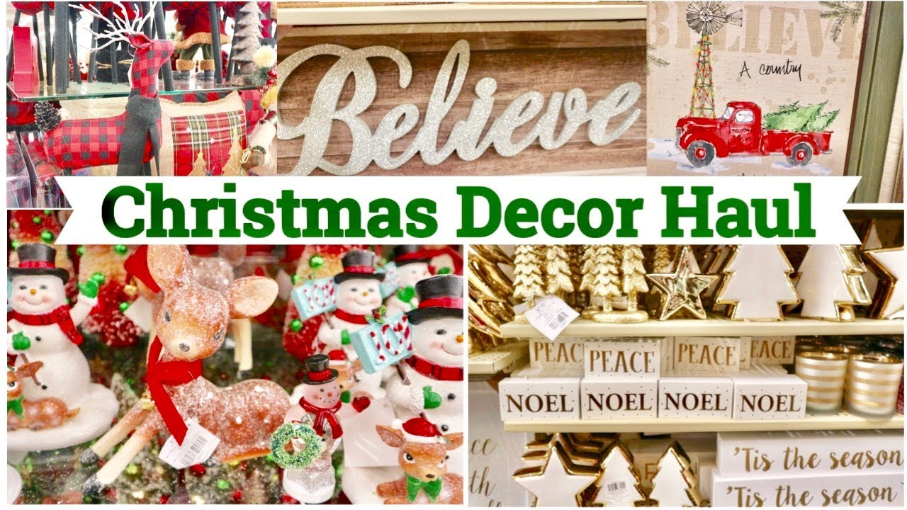 hobby lobby christmas 2017 shop with me christmas decor haul farmhouse diy supplies