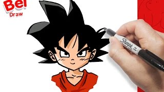 رسم غوكو من دراغون بول | How to draw Goku