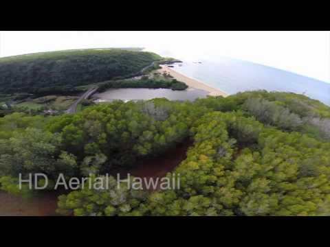 DJI Phantom at Puu O Mahuka Heiau and Waimea Bay  Oahu, Hawaii