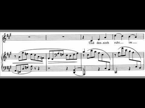 Wie Melodien zieht es mir Brahms Low Voice   A Maj