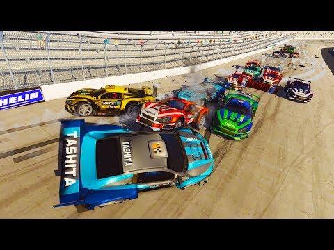 CHAOS AT BRISTOL SPEEDWAY! NASCAR CARMAGEDDON CRASHES! -  Next Car Game Wreckfest Car Mods
