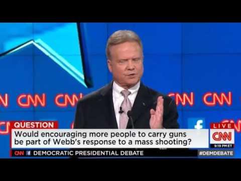 Jim Webb on Gun Control at First Democratic Presidential Debate