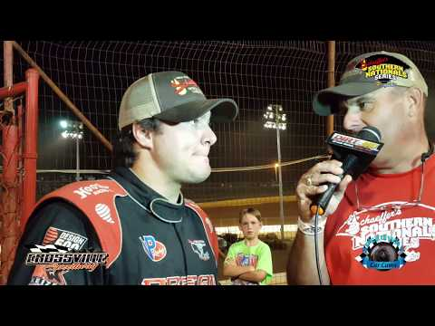#116 Brandon Overton - Winner - Super Late Model - 7-27-17 Crossville Speedway - In Car Camera