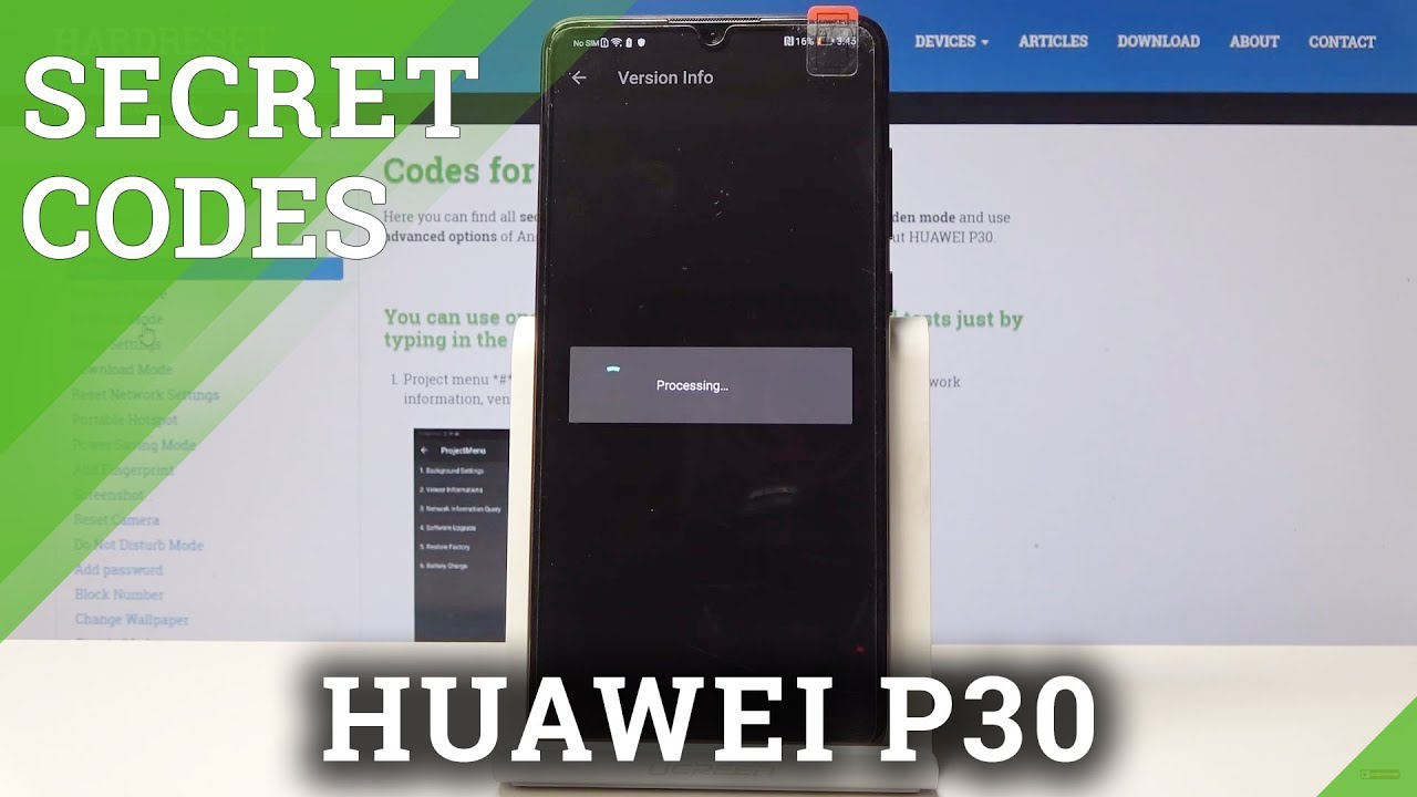 Codes HUAWEI P30 - HardReset info