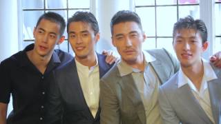 Day 2 LFWM - Hu Bing, Zhao Lei, Jin Da Chuan, Ji Ling Chen at Dunhill Presentation
