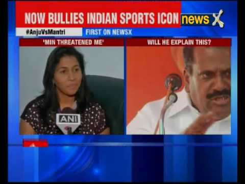 Olympian Anju threatened by Sports Minister