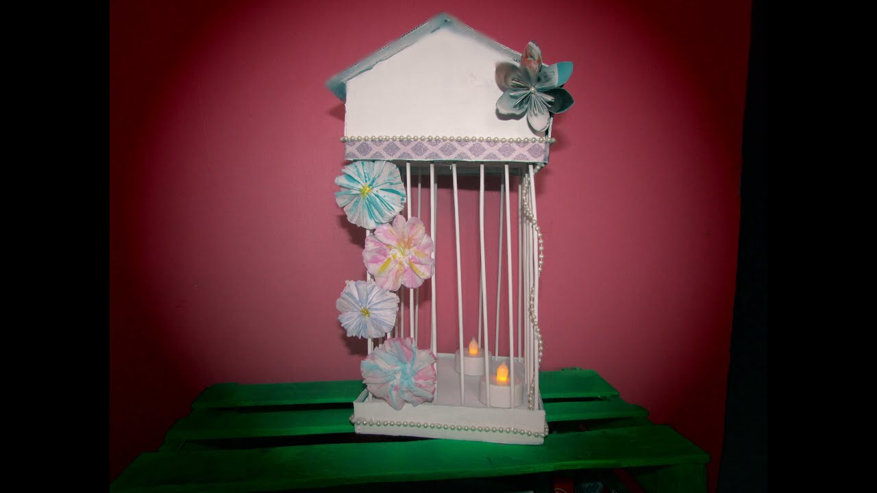 Diy como hacer una jaula vintage decorativa youtube for Construir una pileta de material