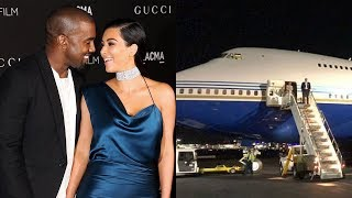 Kim Kardashian And Kanye West Have Given Fans A Glimpse Inside Their Lavish Private Jet Trip