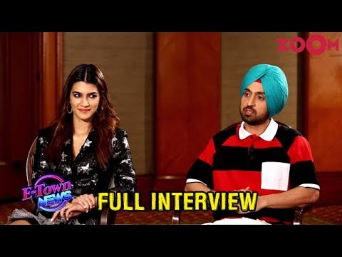diljit-and-kriti's-honest-interview,-emotional-stories,-fun-about-their-trailer-&-more-|-exclusive