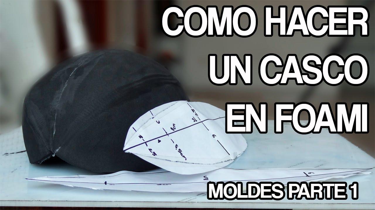 como hacer un casco en foami parte 1 - tutorial moldes - YouTube