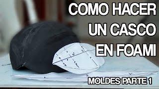 como hacer un casco en foami parte 1 - tutorial  moldes