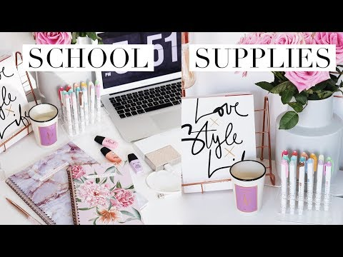 STUDENT SCHOOL SUPPLIES ESSENTIALS + GIVEAWAY | Back To Law