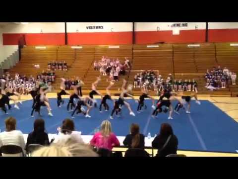 Escanaba middle school cheer team