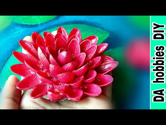 Uses of pista shells | recycle pista shells | how to make lotus with pista shells || DA hobbies-diy