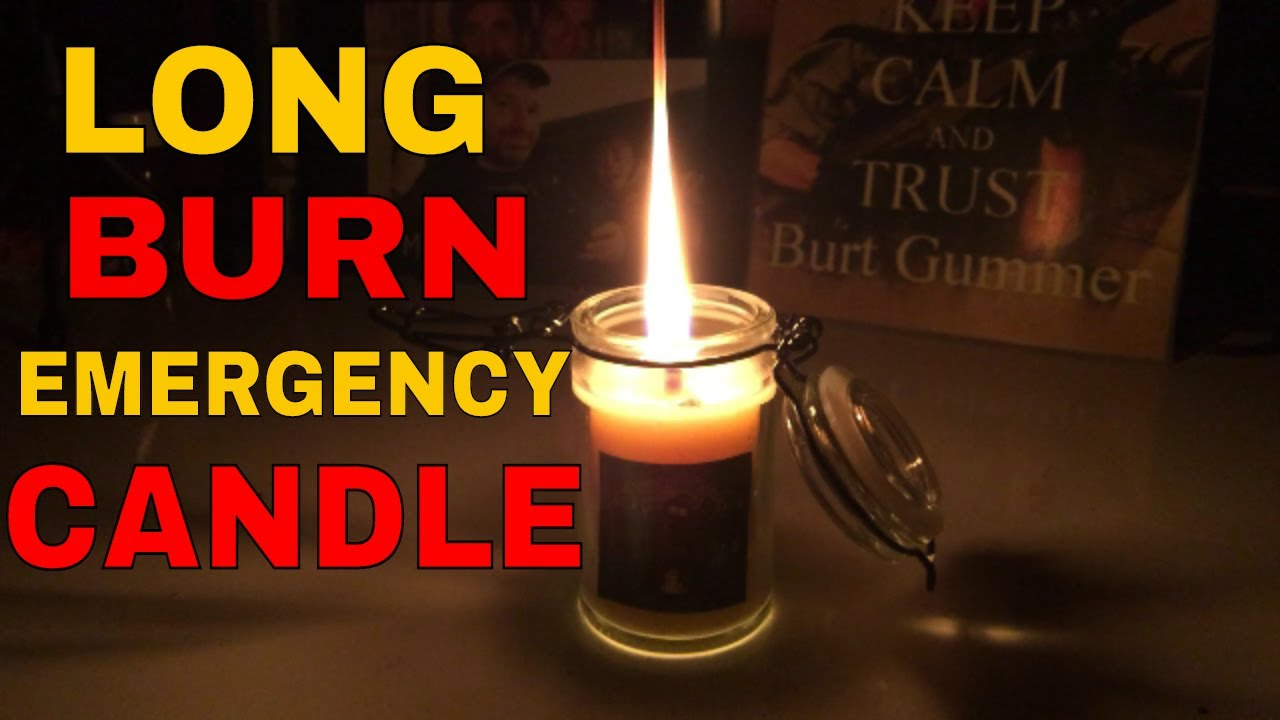 How to make an emergency candle - YouTube