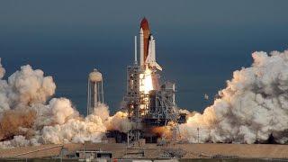 STS 51C launch [enhanced audio]