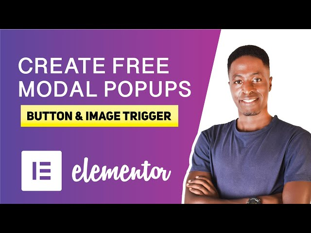 How to Create FREE Modal Popups without Elementor Pro (trigger popup on button or image click)