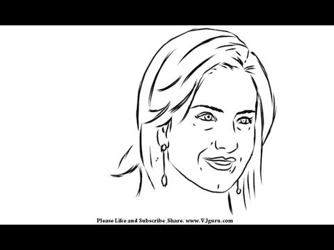 how to draw a smiling face