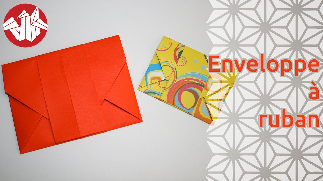 origami enveloppe ruban ribbon envelope senbazuru. Black Bedroom Furniture Sets. Home Design Ideas