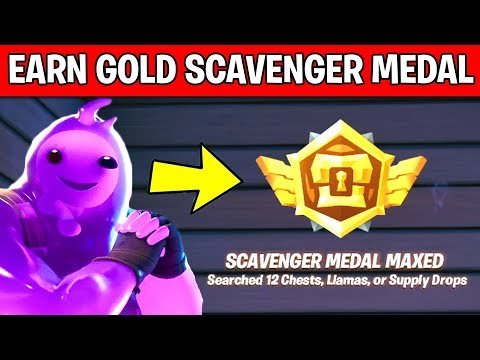 Earn Gold Scavenger Medals By Searching Chests, Llamas Or Supply Drops: EASY TUTORIAL GUIDE FORTNITE