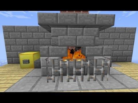 Cheminée Minecraft Automatique Avec Bouton On/off [HD-FR]