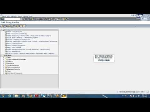 SAP MRP, Service entry and Inventory demo