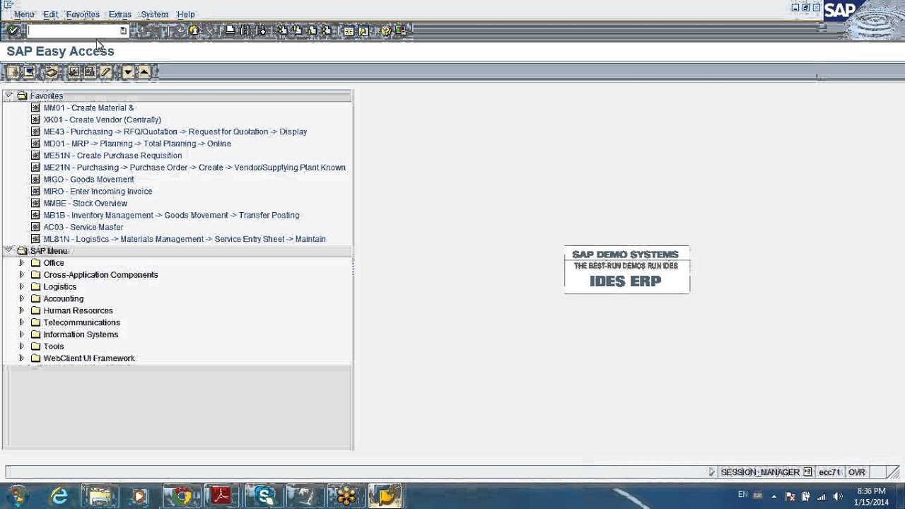 sap mrp service entry and inventory demo [ 1280 x 720 Pixel ]
