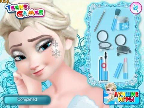 Игры макияж для эльзы и анны новые