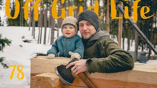 Building a Log Cabin in the forests of Sweden | How we Join the Logs