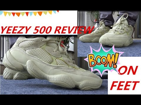 f942270b8 Yeezy 500 Desert Rat Super Moon Yellow HD Review+ On Feet - YouTube