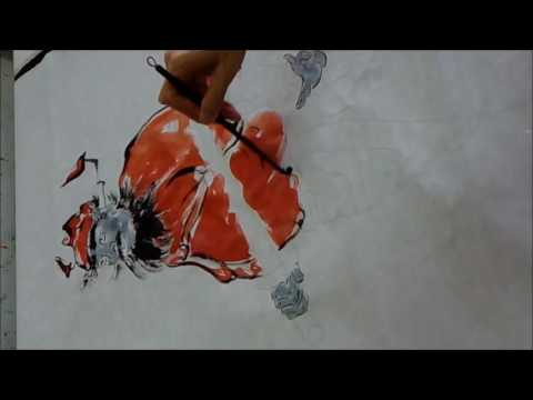 20160716陳永浩CHEN YUNG HAO老師授課Ink and color PAINTING 畫鍾馗 Painted Ghost Catcher – Zhong kui
