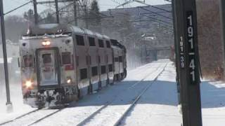 Snow on Amtraks Northeast Corridor