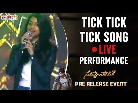 singer-sunitha-daughter-live-performance-|-tick-tick-tick-song-|-savyasachi-pre-release-event