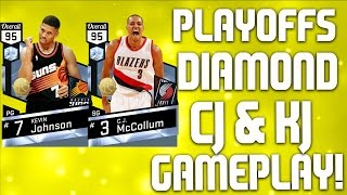 Playoff diamond c.j. mccollum & kevin johnson - bill walton post clinic - nba 2k17 myteam gameplay