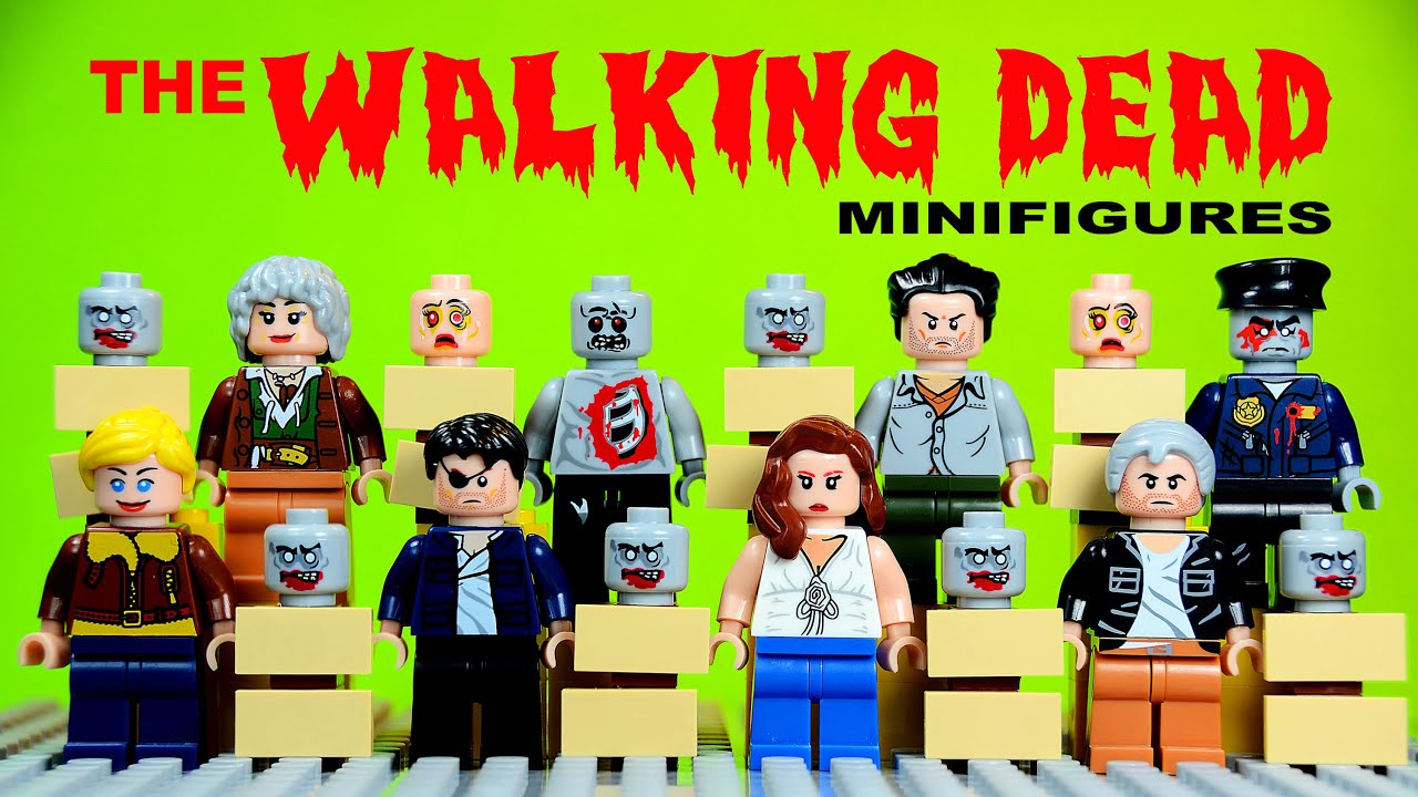 Walking dead lego daryl the walking - Lego The Walking Dead Set 2 Knockoff Minifigures Shane Walsh The Governor Lori Grimes Youtube