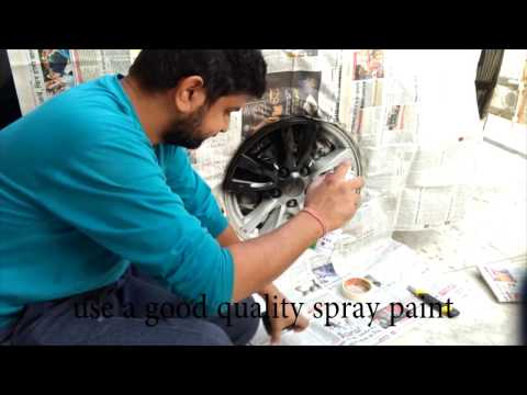 How to paint alloy wheels at home