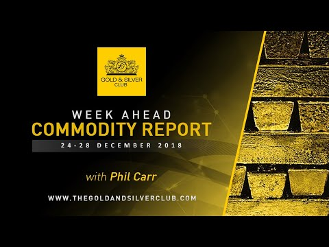 WEEK AHEAD COMMODITY REPORT: 24-28, December 2018: Gold, Silver & Crude Oil Price Forecast