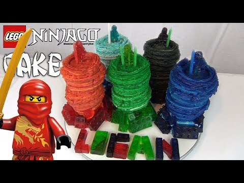 Repeat Ninjago Lego Fondant Cake How to make by Piece of Cake by