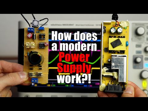 How does a modern Power Supply work?! (230V AC to 5/12V DC) DIY Flyback Converter!