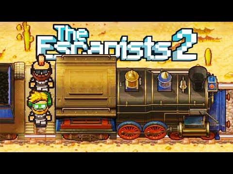 Escaping the Wild West Prison Train! - The Escapists 2 Gameplay