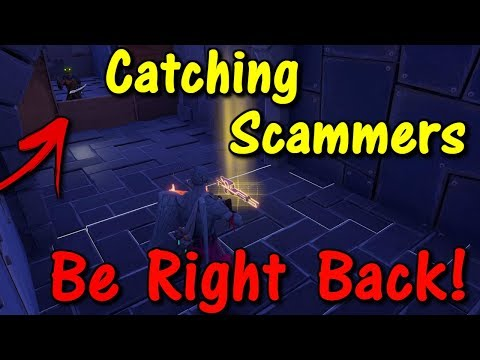 Going AFK While Trading My Neon Sniper (Fortnite save the world catching scammers)